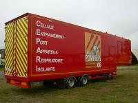 FRP semi-trailer for fire brigade